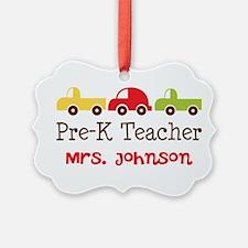 Personalized Preschool Teacher Ornament