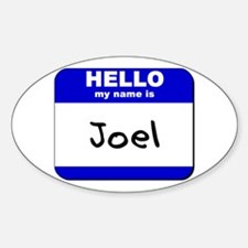 hello my name is joel Oval Decal