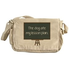 The Dog Ate My Lesson Plan Messenger Bag