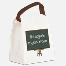 The Dog Ate My Lesson Plan Canvas Lunch Bag