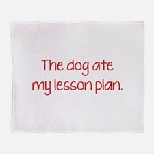 The Dog Ate My Lesson Plan Stadium Blanket