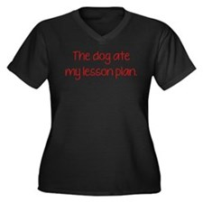 The Dog Ate My Lesson Plan Women's Plus Size V-Nec