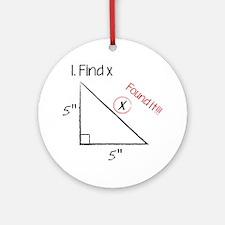 Find X Ornament (Round)