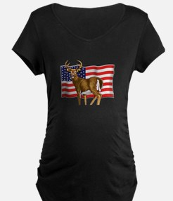 American White Tail Deer Buck Maternity T-Shirt