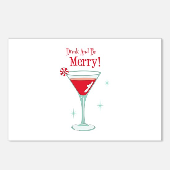 Drink And Be Merry Postcards (Package of 8)
