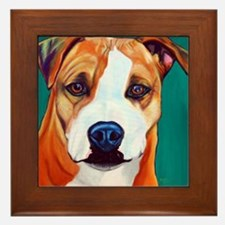 Pit Bull-What a Face... Framed Tile