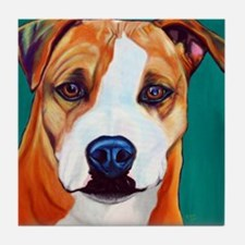Pit Bull-What a Face... Tile Coaster