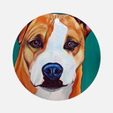 Pit Bull-What a Face... Ornament (Round)