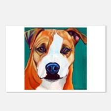 Pit Bull-What a Face... Postcards (Package of 8)