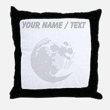 Custom Full Moon Throw Pillow