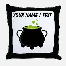Custom Witchs Pot Throw Pillow