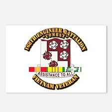 Army - 168th Engineer Bn w SVC Ribbon Postcards (P
