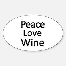 Peace,Love,wine Decal