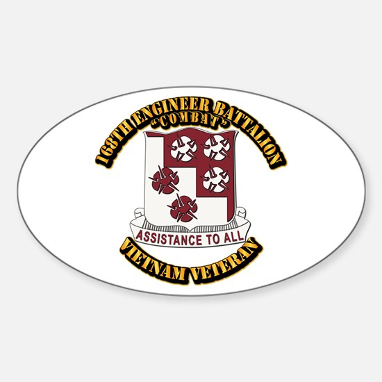 Army - 168th Engineer Bn Sticker (Oval)