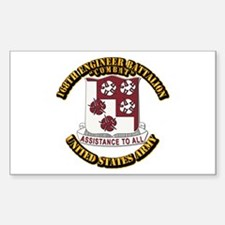 DUI - 168th Engineer Bn w Text Sticker (Rectangle)