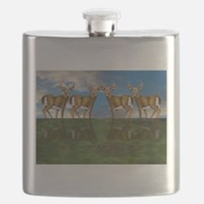 White Tail Deer Buck Flask