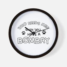 Bombay cat design Wall Clock