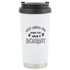 Bombay cat design Travel Mug