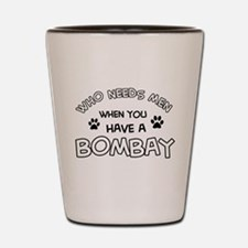 Bombay cat design Shot Glass