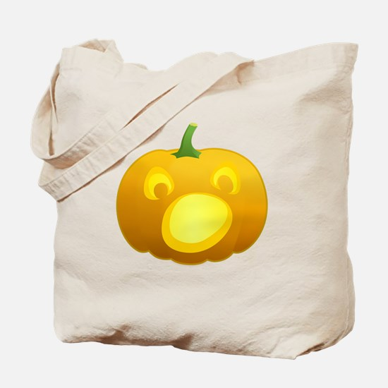 Surprised Jackolantern Tote Bag