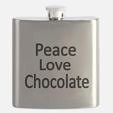 Peace,Love,Chocolate Flask