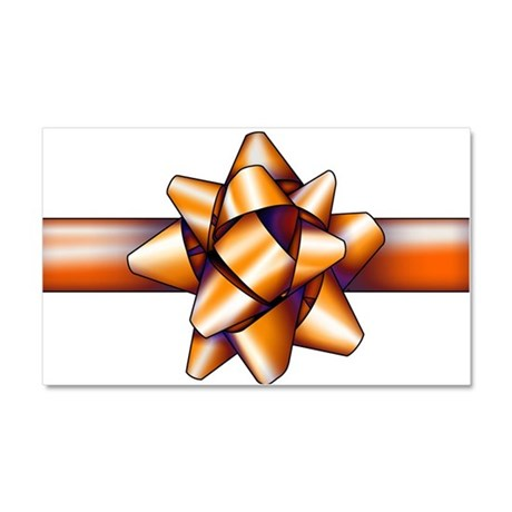 Gold Bow Car Magnet 20 x 12
