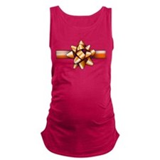 Gold Bow Maternity Tank Top