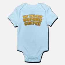No Talkie Before Coffee Infant Bodysuit
