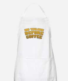 No Talkie Before Coffee Apron