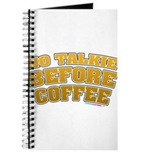 No Talkie Before Coffee Journal
