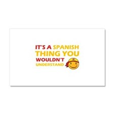 Spanish smiley designs Car Magnet 20 x 12