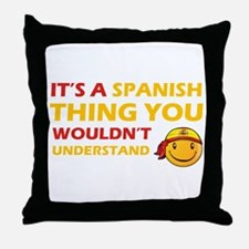 Spanish smiley designs Throw Pillow