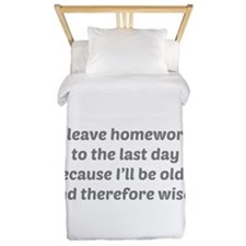 I Leave Homework To The Last Day Twin Duvet