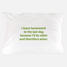 I Leave Homework To The Last Day Pillow Case