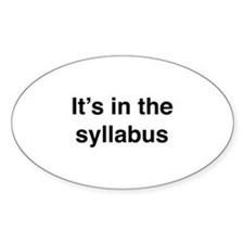 It's In The Syllabus Decal