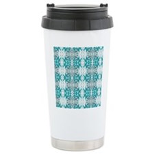 allover design 01 turquoise Travel Mug