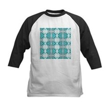 allover design 01 turquoise Baseball Jersey