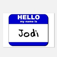 hello my name is jodi  Postcards (Package of 8)