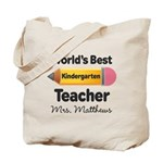 Personalized Kindergraten Teacher Tote Bag
