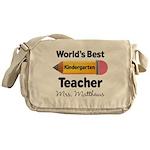 Personalized Kindergraten Teacher Messenger Bag