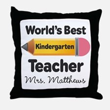 Personalized Kindergraten Teacher Throw Pillow