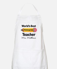 Personalized Kindergraten Teacher Apron