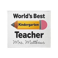 Personalized Kindergraten Teacher Throw Blanket
