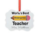Personalized Kindergraten Teacher Ornament