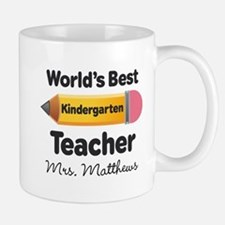 Personalized Kindergraten Teacher Mugs