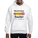 Personalized Kindergraten Teacher Hoodie