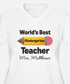 Personalized Kindergraten Teacher Plus Size T-Shir