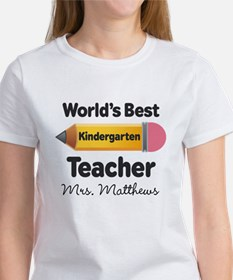 Personalized Kindergraten Teacher T-Shirt