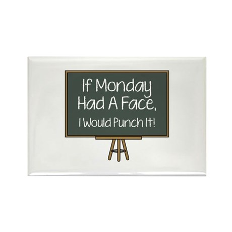 I Monday Had A Face Rectangle Magnet