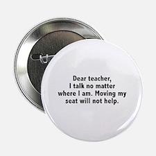 """Dear Teacher 2.25"""" Button"""